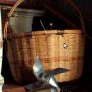 wind powered wicker basket led light