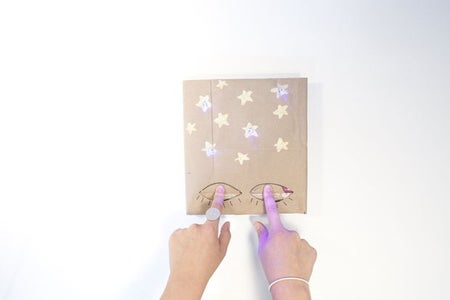 Step 7: Cover the Book With Your Light Up, DIY Book Cover!
