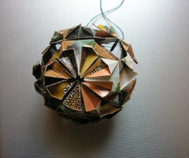 Paper ball ornaments for your Christmas tree