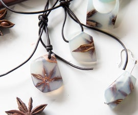 Resin and Star Anise Jewlery Set
