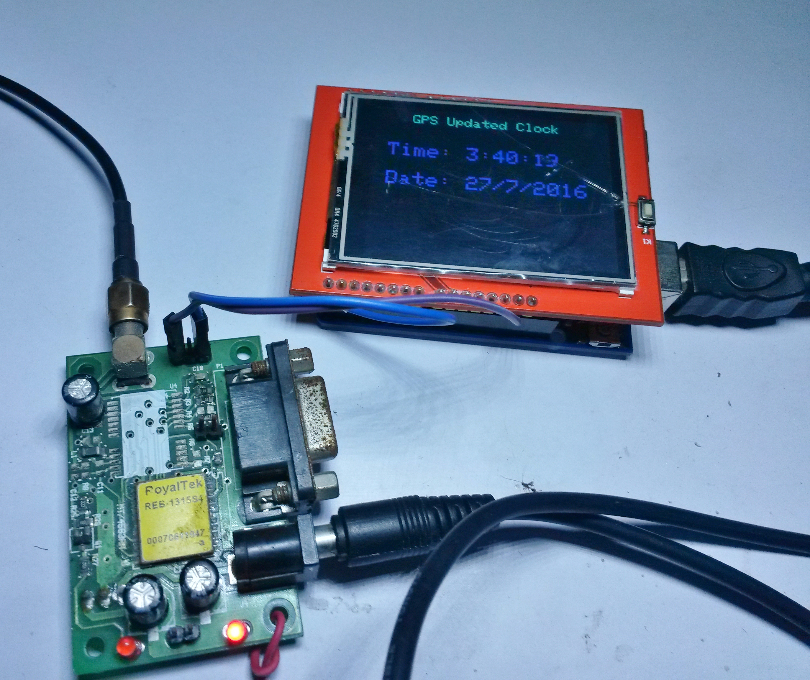 Picture of GPS Clock With TFT and Arduino