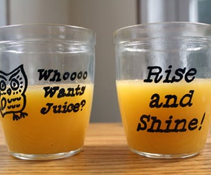 Revamp Old Jars (Into Juice Glasses!)