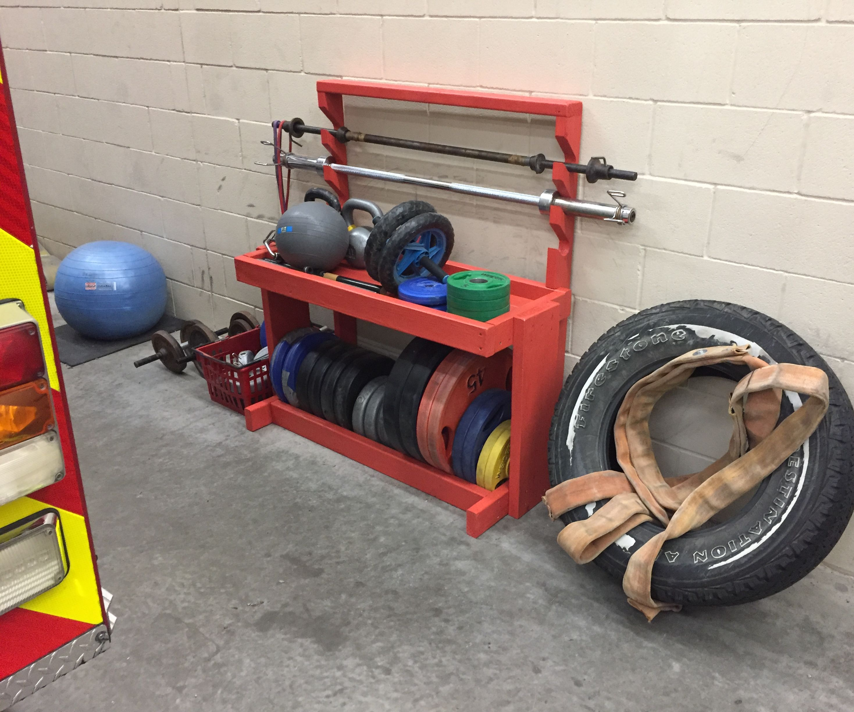Diy Weight And Barbell Storage Rack 4 Steps With Pictures