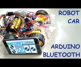 Smartphone Controlled Arduino 4WD Robot Car | Bluetooth Arduino Robot