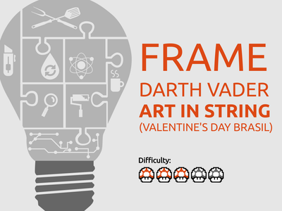 Frame DARTH VADER Art in String (VALENTINE'S DAY BRASIL)