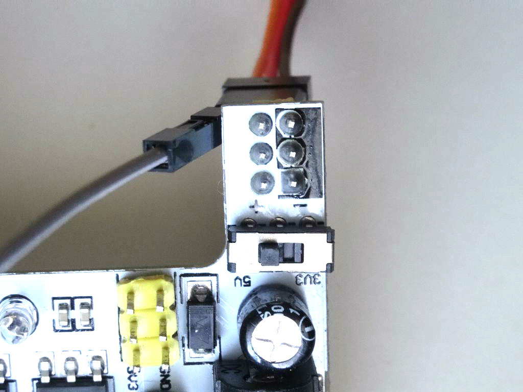 Picture of Connect Power to the Servo