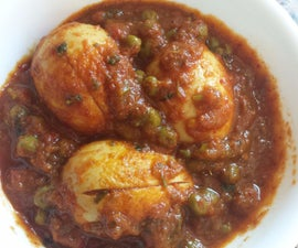 Egg in Tomato Curry (Anda Masala)