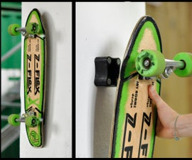 Magnetic Skateboard Wall Hanger