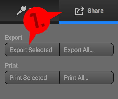 Picture of Export the Handle