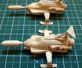 Mini UFO Interceptor Popsicle Stick Model