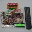 Digital Clock Using 7 Segment Display controlled using TV Remote