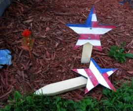 American Flag Star Yard Stake Easy DIY