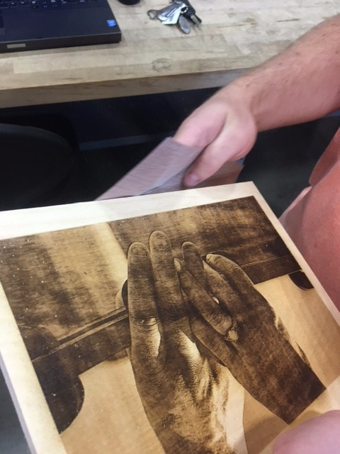 Picture of Cutting the Image and Finished