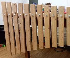 Giant Xylophone Made From Bed Slats