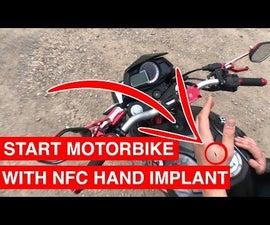 Start Motorbike With NFC Hand Implant