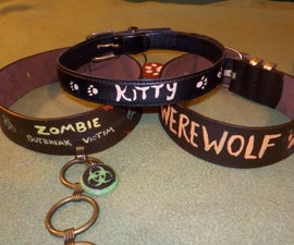 Recycled Belt Collars - for Costuming or Pets!