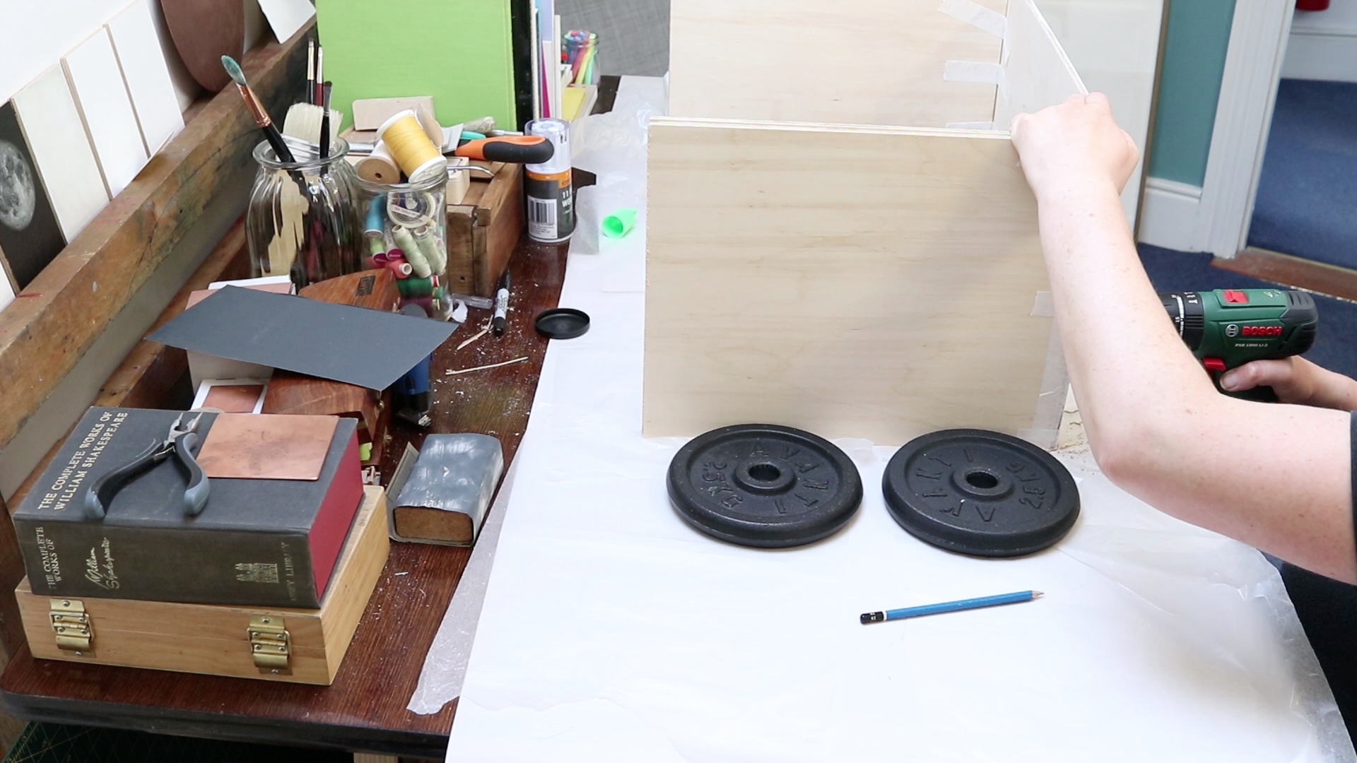 Picture of Making the Lid / Inking Bench