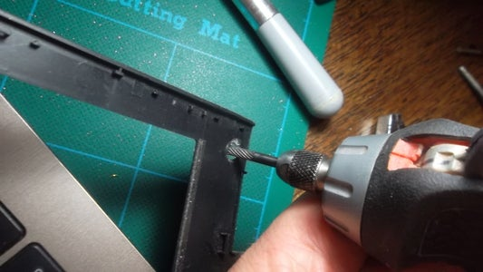 Grind a Bit Outer Plastic Shell So As to Allow for the New Screws/nuts Inside