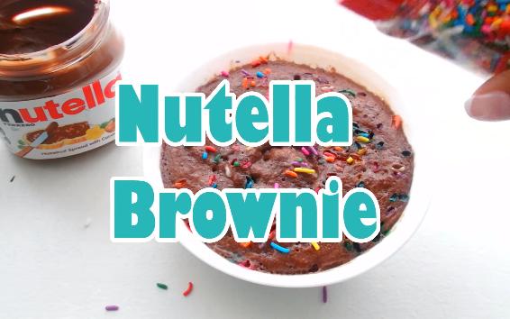 Picture of 2- Minute Confetti Nutella Brownie