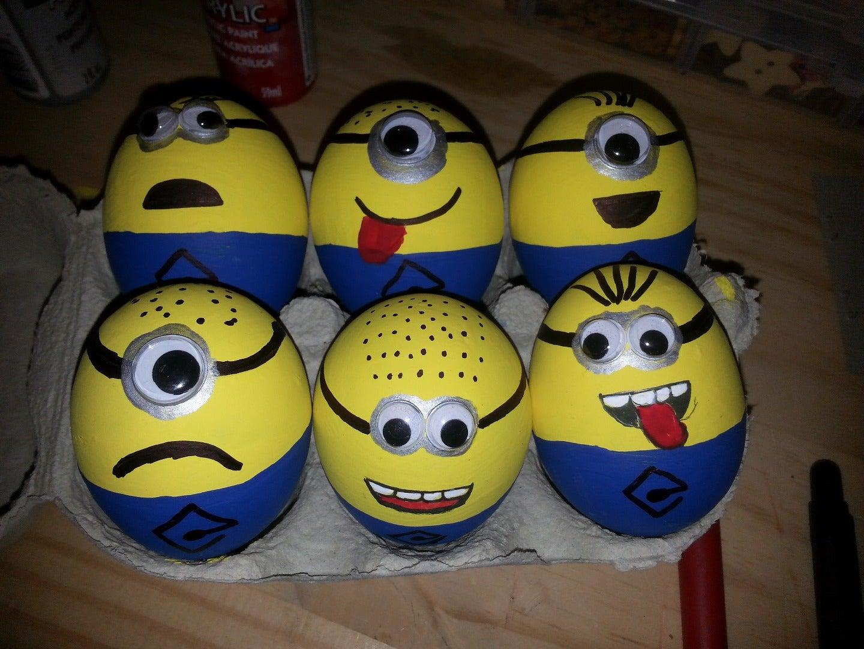 Minions Eggs: 3 Steps
