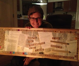 Make your own Scrabble Magnet Board