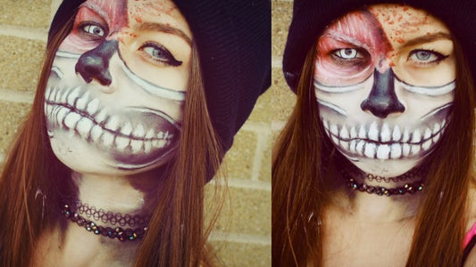 Layers: Skeleton Mask & Muscle Makeup