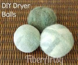 Easy DIY Felted Dryer Balls