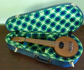 a cardboard ukulele case