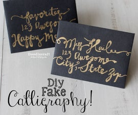 How to Fake Script Calligraphy!