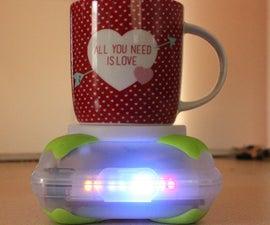 DIY Homemade Portable Arduino Coffee Coaster with Temperature Indicator LED