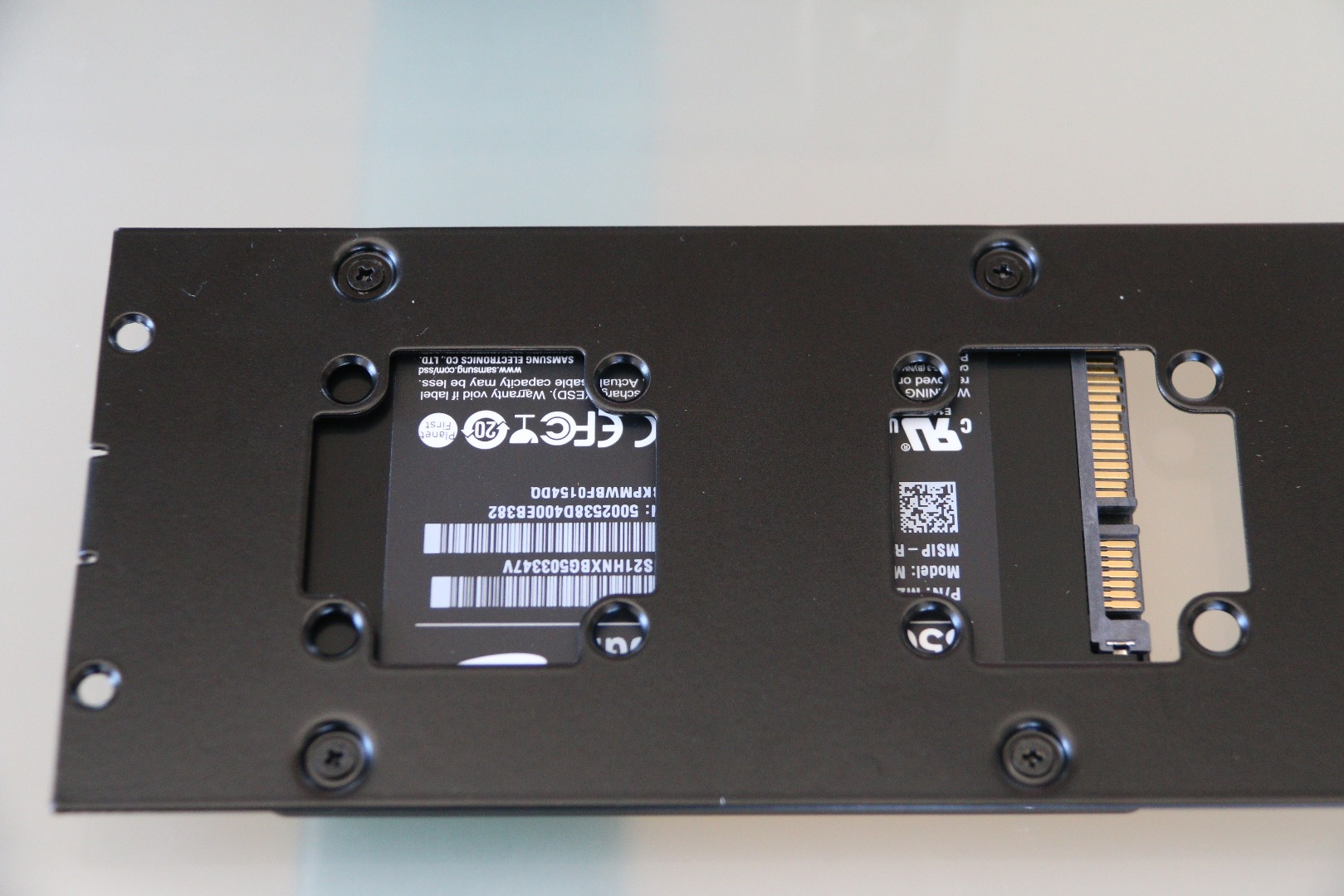 Picture of Installing the SSD on the Bracket