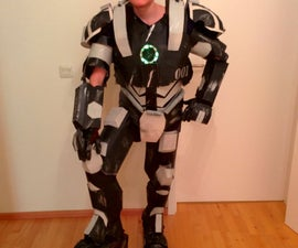 Creating a homemade DIY War Machine suit out of household items