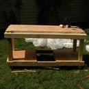 Hand tools-only Workbench out of Reclaimed Wood
