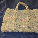 Knit Plastic Bag Handbag