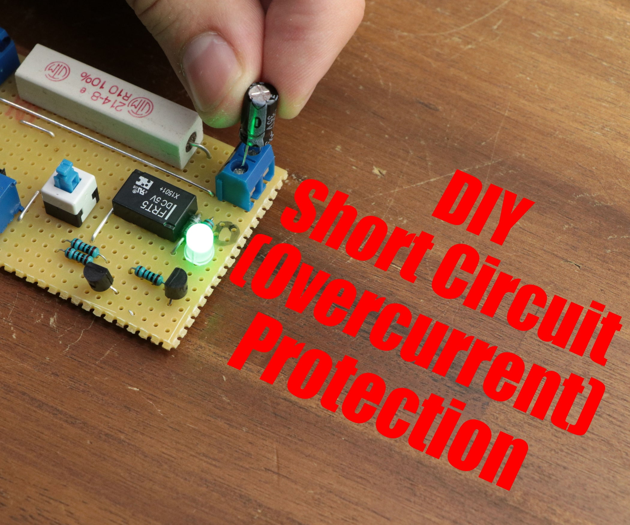 Diy Short Circuit Overcurrent Protection 4 Steps With Pictures Relay Circuits By Photo Transistor Electronic Projects