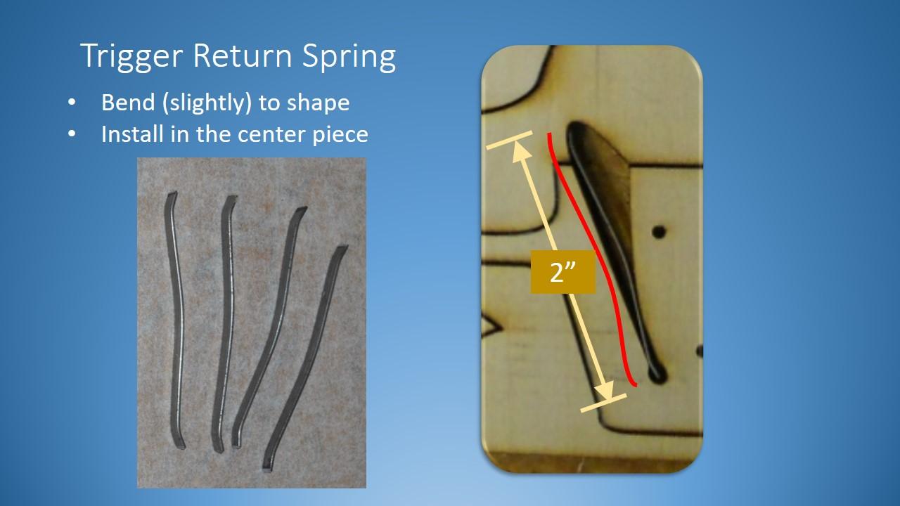 Picture of Cut and Shape the Trigger Return Spring