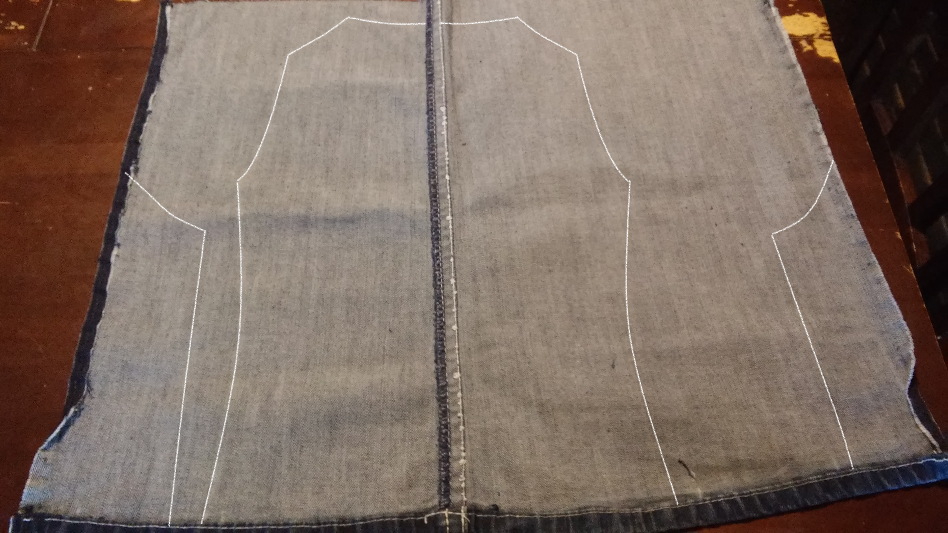 Picture of Marking the Back and Sides of the Vest