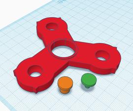 3D Printed Fidget Spinner - TinkerCAD / Cura