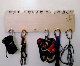 Rock Climbing Equipment Rack