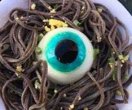 Creepy Deviled Egg Eyeballs