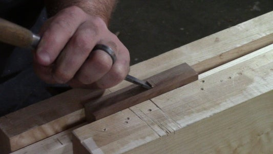 Mortise the Cross Guard.