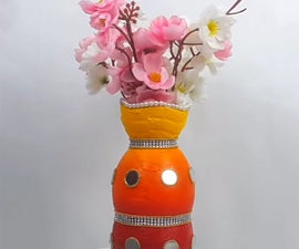 How to Make Flower Vase Using Empty Cold Drink Plastic Bottle?