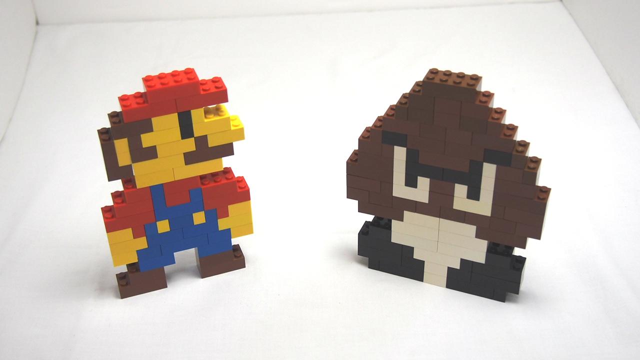 Picture of Lego Super Mario and Goomba