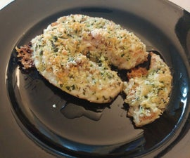 Butterfly Chicken With Cheddar Gratin