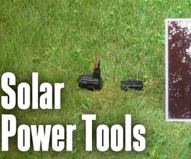 Solar Battery Charger For Your Cordless Power Tools