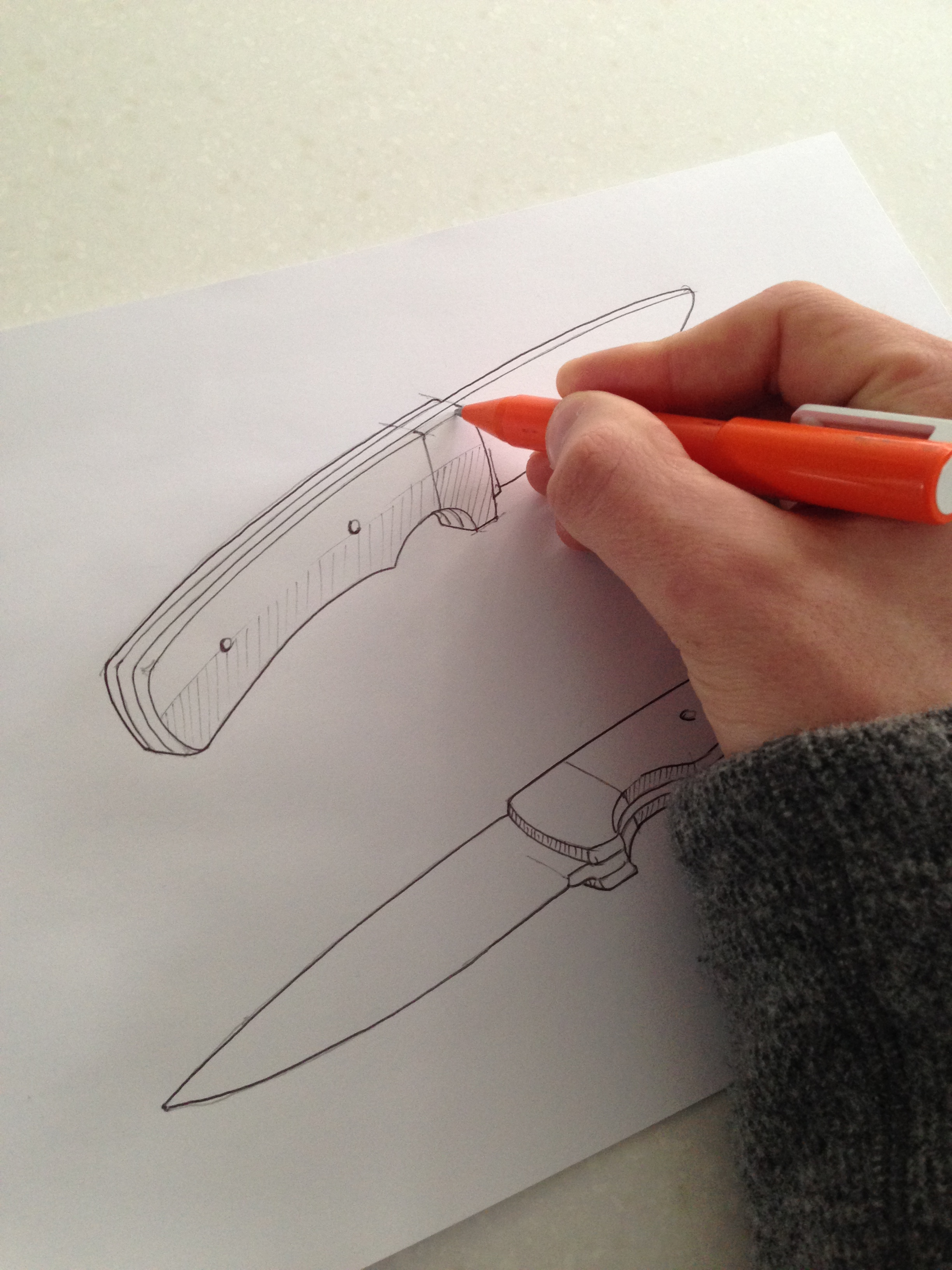Picture of Design the Knife (sketching)