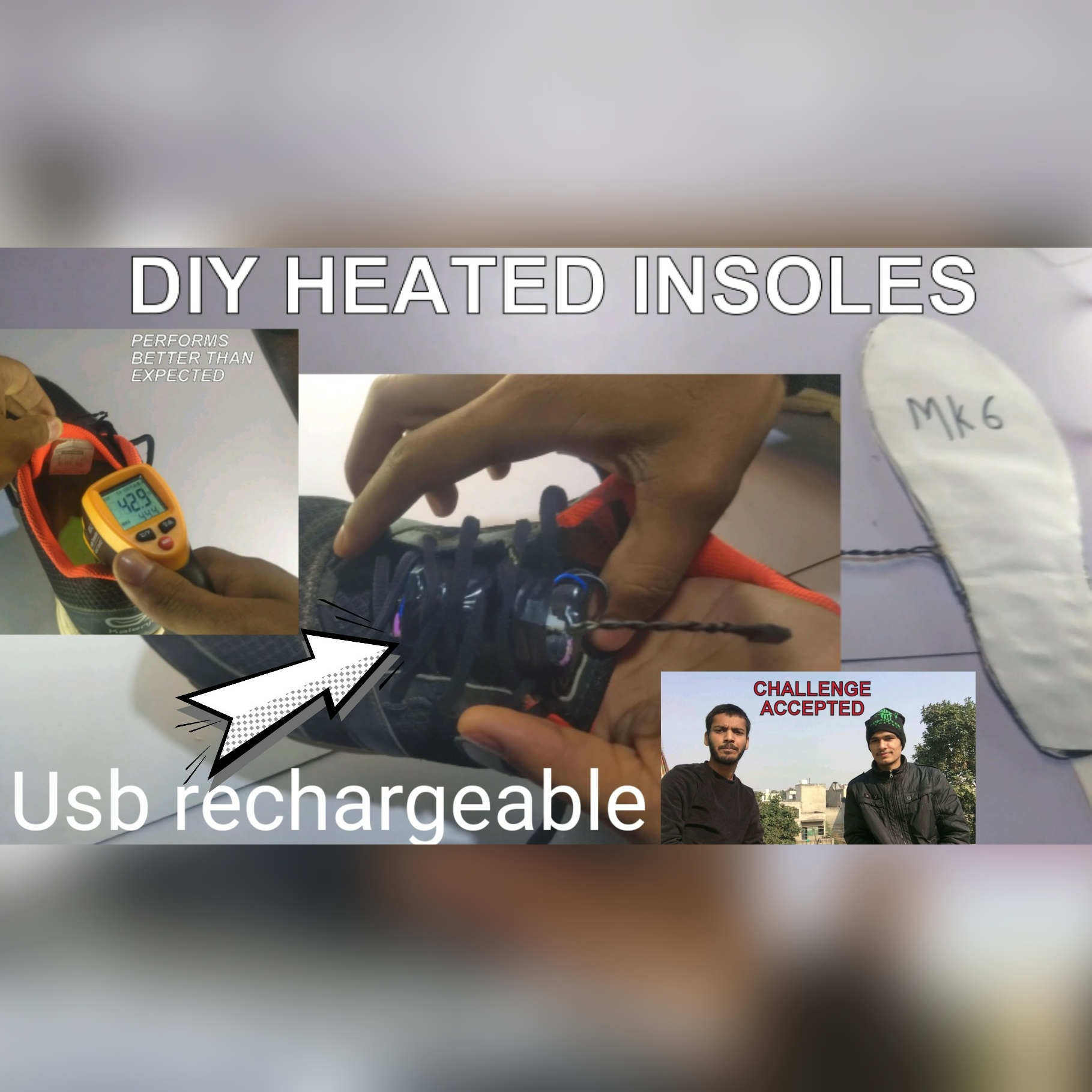 Picture of Diy Electric Heated Insoles (usb Rechargeable)