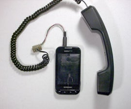 Connecting a Telephone Handset to Your Cell Phone
