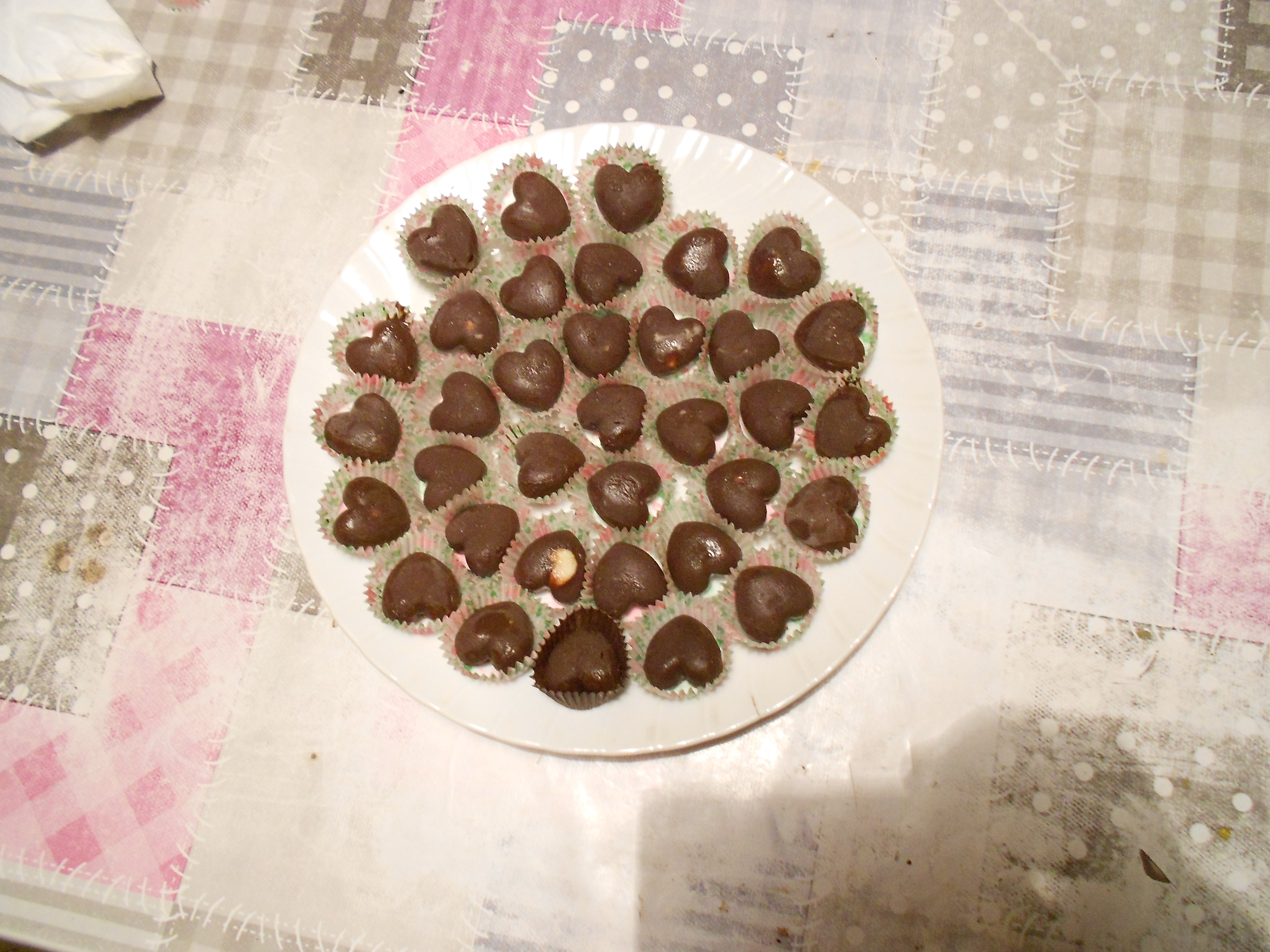 Picture of Heart-shaped Chocolate Pralines