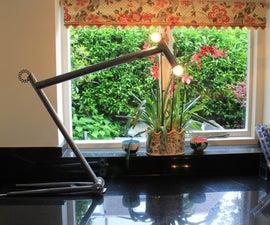 Bicycle frame lamp.